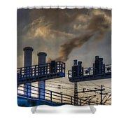 Industrail Sunset Shower Curtain
