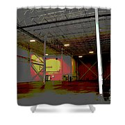 Industrial 3 Shower Curtain