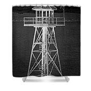 Industrial Alcatraz Shower Curtain