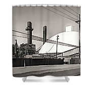 Industrial Art 2 Sepia Shower Curtain
