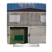 Industrial Building Shower Curtain