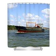Industrial Cargo Ship Shower Curtain
