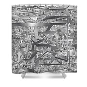 Industrial Chaos Shower Curtain