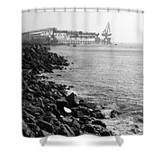 Industrial Coastline Shower Curtain
