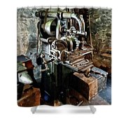 Industrial Gear Cutting Machine Shower Curtain