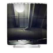 Industrial Interior Shower Curtain