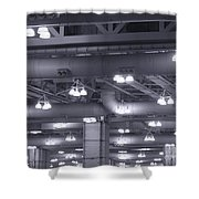 Industrial Lights Shower Curtain