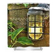 Industrial Outdoor Light Shower Curtain