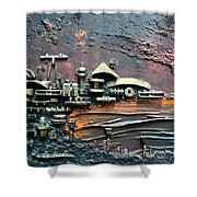 Industrial Port-part 1 By Rafi Talby Shower Curtain