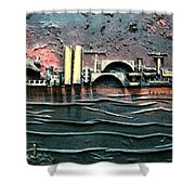 Industrial Port-part 2 By Rafi Talby Shower Curtain