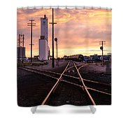 Industrial Rail Yard Shower Curtain