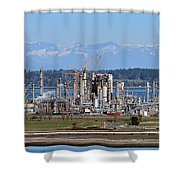 Industrial Refinery Shower Curtain