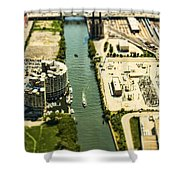 Industrial Riverside Shower Curtain