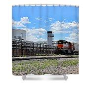 Industrial Train Shower Curtain