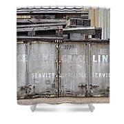 Industrial Wasteland Shower Curtain
