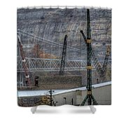 Industry Along The Ohio River Shower Curtain