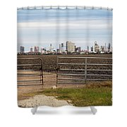 Industry At Sunrise Shower Curtain