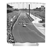 Indy 500 Parade Lap Shower Curtain