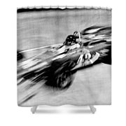 Indy 500 Race Car Blur Shower Curtain