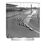 Indy 500 Race Start Shower Curtain