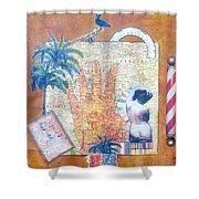 Inept Love Letter Shower Curtain