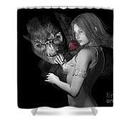 Infatuated  Roses Shower Curtain