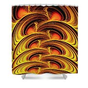 Inferno Shower Curtain by Anastasiya Malakhova