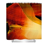 Inferno In Lower Antelope Canyon-az Shower Curtain