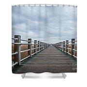 Infinite Boardwalk Shower Curtain