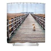 Infinite Boardwalk Run Shower Curtain