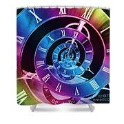 Infinite Time Rainbow 1 Shower Curtain