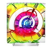 Infinite Time Rainbow 3 Shower Curtain