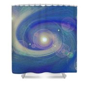 Infinity Blue Shower Curtain