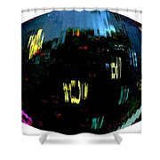 Infinity Cityscape 1  Shower Curtain
