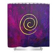 Infinity - Deep Purple With Gold Shower Curtain