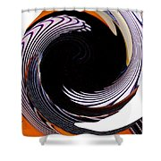 Infinity Feathers 1 Shower Curtain