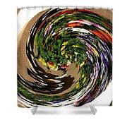 Infinity Flower Spiral 1 Shower Curtain