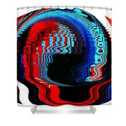 Infinity Mask 3 Shower Curtain