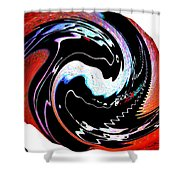 Infinity Multicultural American Flag Yin Yang 1 Shower Curtain
