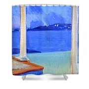 Infinity Pool At Twilight Shower Curtain