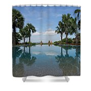 Infinity Pool Of Aureum Palace Hotel Shower Curtain