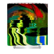 Infinity Rainbow River 1 Shower Curtain