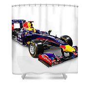 Infinity Red Bull Rb9 Formula 1 Race Car Shower Curtain