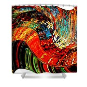 Infinity Sound Wave 2 Shower Curtain