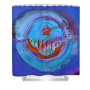 Inflame Skyline Shower Curtain