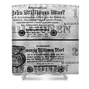 Inflated German Mark Bills Shower Curtain