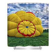 Inflating The Hot Air Balloon Shower Curtain