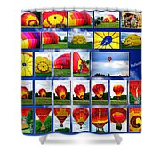 Inflation Hot Air Balloon Shower Curtain