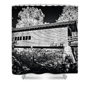 Infrared Covered Bridge Shower Curtain
