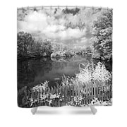 Infrared Mill Pond Shower Curtain